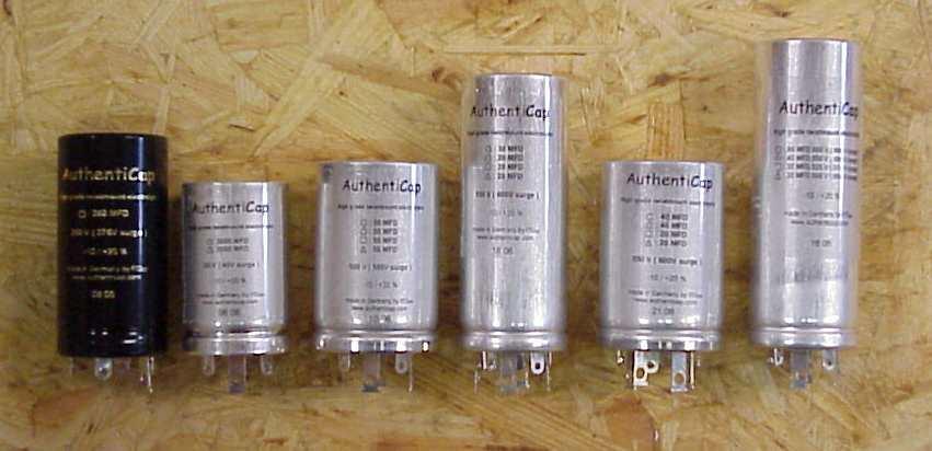 ONE 40-40-20-20 MFD 550V Twist Lock Capacitor Authenticap KTL-14 MX110 Scott AMP